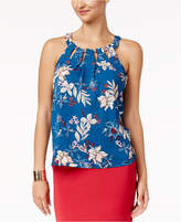Thalia Sodi Printed Cutout Top, Created for Macy's