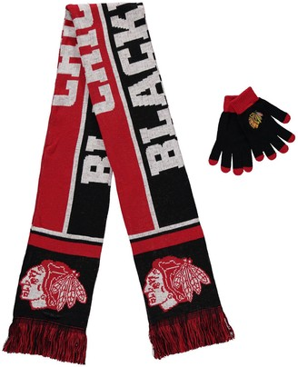 Chicago Blackhawks Gloves & Scarf Set