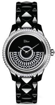 Christian Dior VIII Grand Bal Diamond, Black Mother-Of-Pearl, Black Ceramic& Stainless Steel Automatic Br