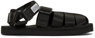 Suicoke Black SHACO Sandals