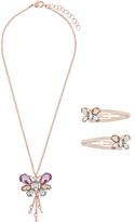 Monsoon Pastel Jewel Butterfly Necklace Set