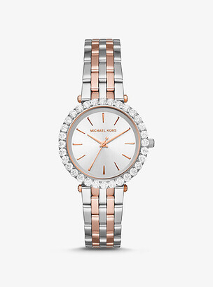 Michael Kors Darci Pave Two-Tone Watch - Two Tone