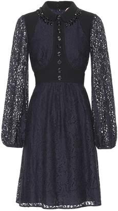 N°21 Embellished lace minidress