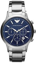 Emporio Armani Men's AR2448 Stainless Steel Classic Blue Dial Watch