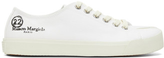 Maison Margiela White Canvas Tabi Sneakers