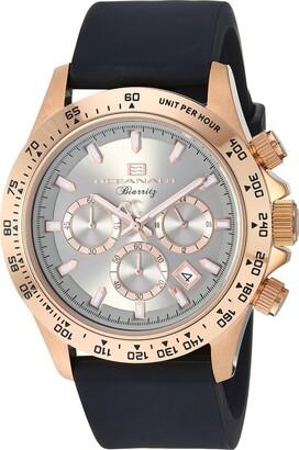 Oceanaut Men's Biarritz Stainless Steel Quartz Watch with Rubber Strap Black 23.1 (Model: OC6118R)