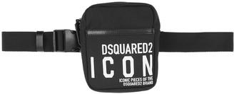 DSQUARED2 Icon black canvas belt bag