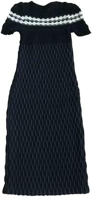Rue Du Mail Blue Wool Dresses