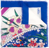 Fendi floral print scarf - women - Silk/Cotton - One Size