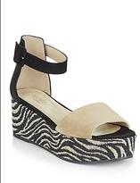 Hobbs London Mabel Woven Zebra Platform Wedge Sandals