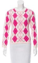 Burberry Argyle Long Sleeve Sweater