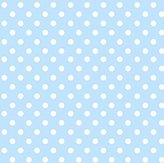 Camilla And Marc SheetWorld Fitted Crib / Toddler Sheet - Pastel Blue Polka Dots Woven - Made In USA - 28 inches x 52 inches (71.1 cm x 132.1 cm)