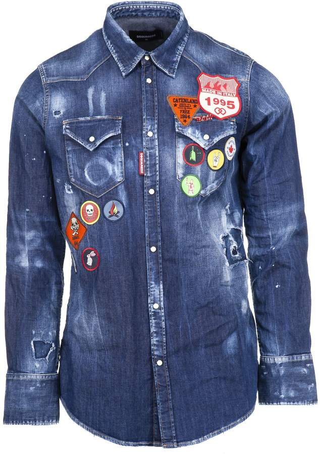 DSQUARED2 2 Multi-patch Denim Shirt