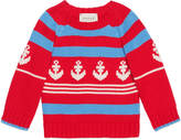 Gucci Baby cotton sweater with anchor