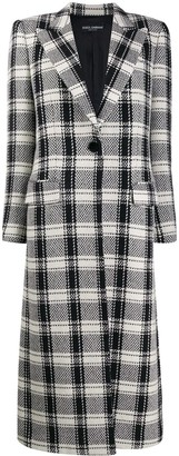 Dolce & Gabbana Single Buttoned Check Coat