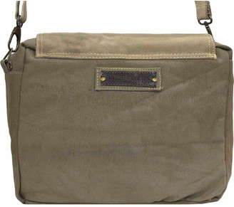 Vintage Addiction All You Need Is Love Recycled Military Tent Crossbody