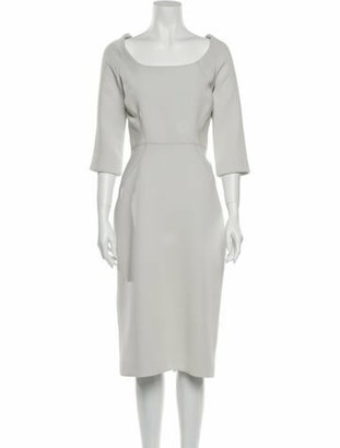 Zac Posen Scoop Neck Midi Length Dress w/ Tags Grey