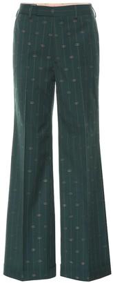 Gucci GG striped wool wide-leg pants