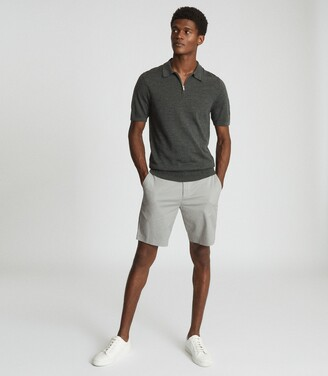 Reiss Wicket - Casual Chino Shorts in Sage
