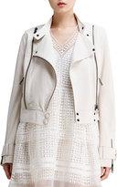 Chloé Lightweight Lambskin Leather Jacket, Off White