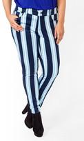 Forever 21 FOREVER 21+ Multi-Striped Skinny Jeans
