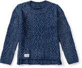 Ralph Lauren 2-6X Aran-Knit Cotton-Blend Sweater