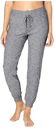 Beyond Yoga Lounge Around Midi Joggers (Black/White SD) Women's Casual Pants