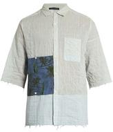 Longjourney G short-sleeved striped cotton shirt