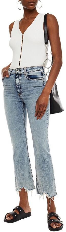 Thumbnail for your product : Rag & Bone Nina Distressed Acid-wash High-rise Kick-flare Jeans