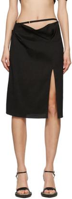Jacquemus Black La Jupe Drap Skirt