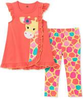 Kids Headquarters 2-Pc. Graphic-Print Tunic & Leggings Set, Baby Girls