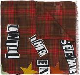 Valentino Garavani Valentino check lettered scarf - men - Cashmere/Modal - One Size