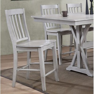"""Clennell 24"""" Bar Stool (Set of 2) Gracie Oaks Color: Gray"""