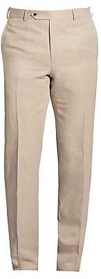 Saks Fifth Avenue BY SAMUELSOHN Classic-Fit Linen & Silk Trousers