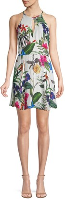 Parker Tropical-Print Mini Dress