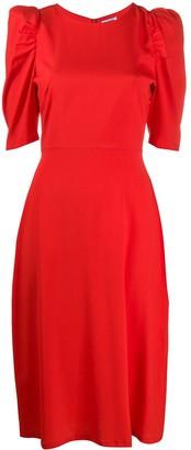 P.A.R.O.S.H. Puff Sleeved Midi Dress