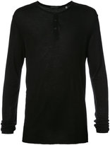 ATM Anthony Thomas Melillo buttoned long-sleeved T-shirt - men - Cotton/Modal - S