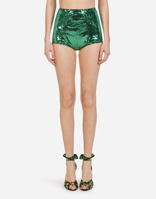 Dolce & Gabbana Sequined High-Waisted Panties