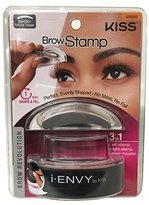 Kiss i-Envy by Brow Stamp for Perfect Eyebrow (KPBS02 - Ebony/Natural Shape)