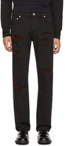 Alexander McQueen Black Shredded Jeans
