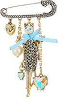 Betsey Johnson Angel Cat Brooch and Pin