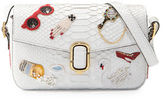 Marc Jacobs J Marc Embroidered Python Shoulder Bag, White