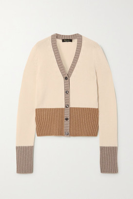 Loro Piana Color-block Cashmere Cardigan - Ivory