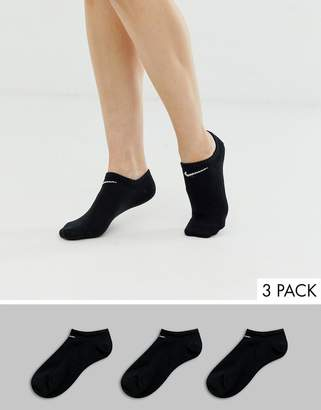Nike black 3 pack trainer socks