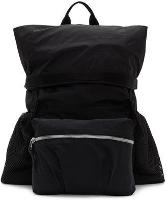Bottega Veneta Black Nylon Medium Backpack