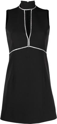 Blumarine Sleeveless Keyhole Mini Dress
