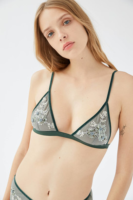Out From Under Embellished Mesh Triangle Bralette