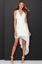 LuLu*s Elegant Gathering Ivory High-Low Dress