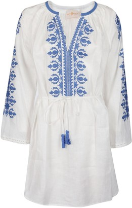 Tory Burch Embroidered Mini Dress