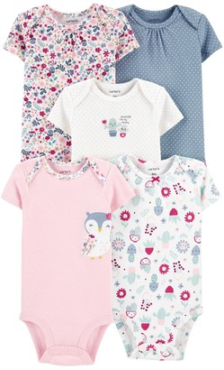 Carter's Baby Girl 5-Pack Owl Original Bodysuits